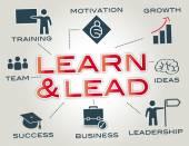 Öğrenmek ve Infographic kurşun — Stok Vektör