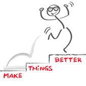 Make things better — Stock Vector