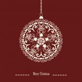 Christmas ball on red background — Stockvector