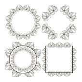 Decorative floral frame — Stock Vector