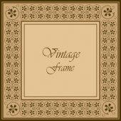 Marco ornamental vintage — Vector de stock