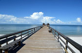 Pier leading to clouds — Stock Photo