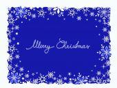 Niebieskie kartki świąteczne — Wektor stockowy