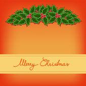 Merry christmas card — Stockvektor