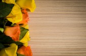 Yellow and orange roses background — Stock fotografie