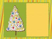 Moderno árbol de navidad — Vector de stock