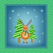 Reindeer illustration — Stock Vector