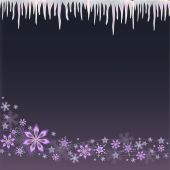 Icicle and snowflake background — Stock Vector