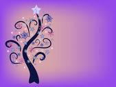 Snowflake tree — Stock Vector