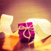 Ruban et coffret cadeau — Photo