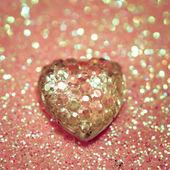Heart on shiny background — Stock Photo