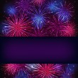 Banner over purple fireworks — Stock Photo #58209667