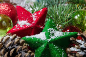 Christmas stars decoration — Stock Photo