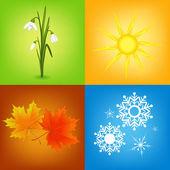 Four seasons symbols  — Stockvektor