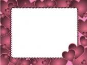 розовый сердечный фон — Cтоковый вектор