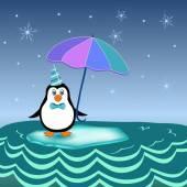 Penguin on iceberg — Stock Vector