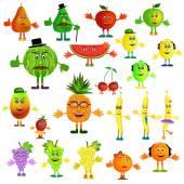 Fruit cartoon icons — Stock Vector