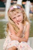 Portrait of lovely blond girl — Stock Photo