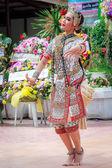 Thai dancing funeral — Foto Stock