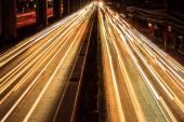 Nighttime highway — Stock Photo