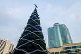 Front of Central World with Festival and Christmas decoration — Stock Photo