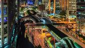 Bangkok city, Chong Nonsi skywalk — Stock Photo