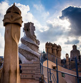 Gaudi, Barcelona in September, Spain — Stock Photo