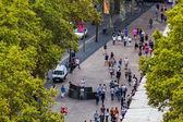 Barcelona v září, katalánština — Stock fotografie