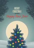 Merry christmas vectorillustratie — Stockvector