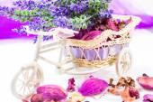 Lavender bike — Stock Photo
