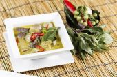 Green curry Chicken soup — Stock Photo