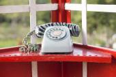 Old-fashioned telephone booth — Stock Photo