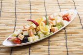 Estilo tailandês de salada de fruta picante — Fotografia Stock