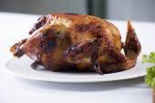 Grilled turkey on the plate — Stock Photo
