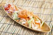 Thai Papaya salad  — Stock Photo