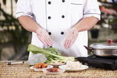 Chef prepared cooking with noodle ingredient — Stock Photo