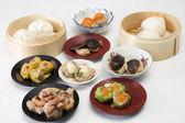 Group of stream Dim Sum chinese food — Stock Photo