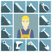 Icone della costruzione di strumenti — Vettoriale Stock