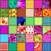 Abstract patchwork seamless pattern — Stock Vector