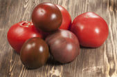 Six tomatoes  — Stock Photo