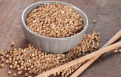 Buckwheat grain — Stock Photo