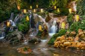 Nature with a waterfall that looks rilex, comfortable and refres — Stock Photo
