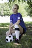 Female soccer player — Stock Photo