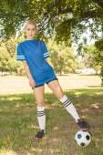 Female soccer player — Stock Photo