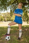 Jugador de fútbol femenino — Foto de Stock