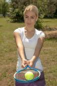 Female tennis player — Stock Photo