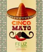 Cinco de Mayo. Feliz. Viva Mexico.  Day victory at Puebla, Mexico Independence Day. — Stock Vector