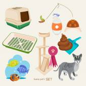 Some cute vector stuff for pets — Stock Vector
