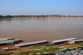 Natural view of Khong river in Chaingkhan, Thailand — Stock Photo