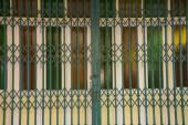 Fantasy drzwi szklane drzwi zielony żelazo — Zdjęcie stockowe